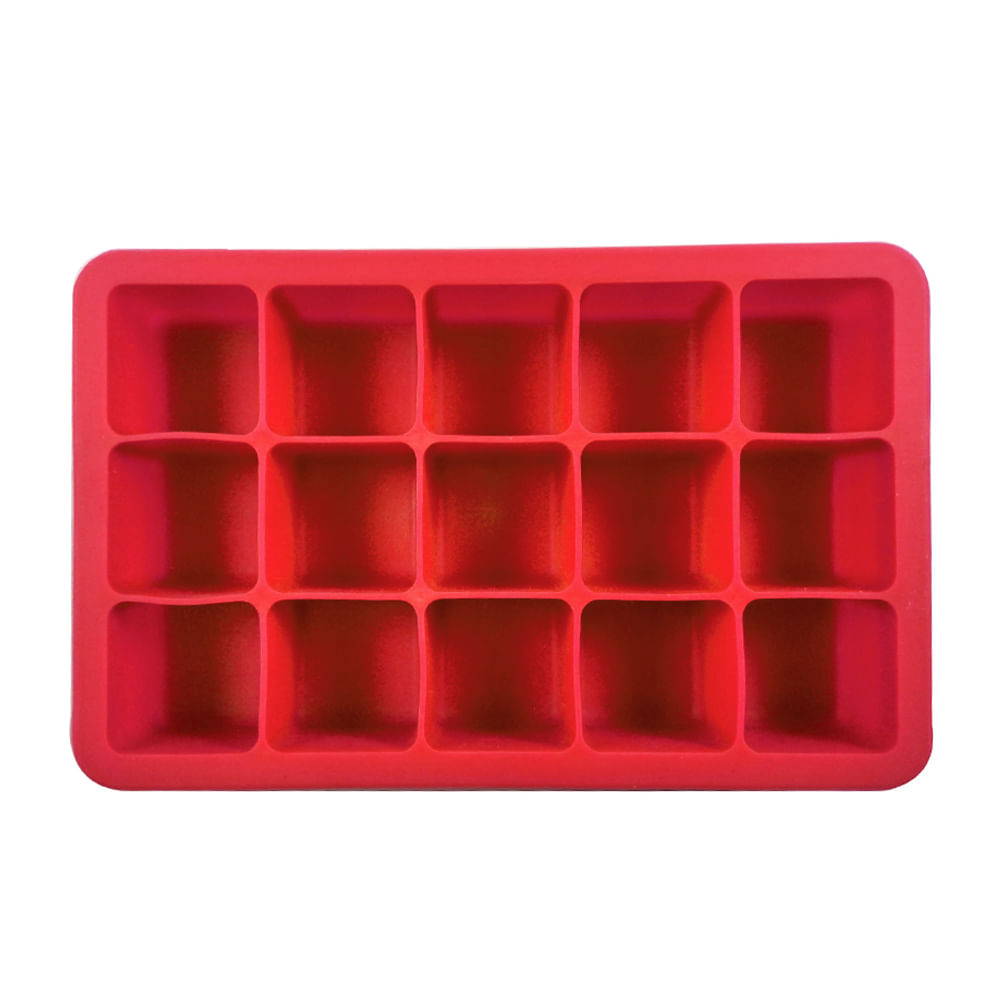 Forma para gelo em silicone 15 cubos vermelha kenya spicy for Attrezzi cucina in silicone