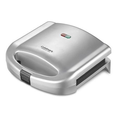 Sanduicheira elétrica em cromo escovado Cuisinart -220V wm-sw2nbr