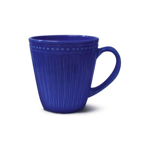 Caneca em cerâmica azul 300ml Corona Relieve