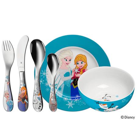 Conjunto infantil em porcelana com 6 peças Frozen WMF