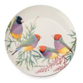 PRATO-DE-SOBREMESA-20CM-GOULDIAN-FINCHES-BIRDS-MAXWELL-E-WILLIAMS