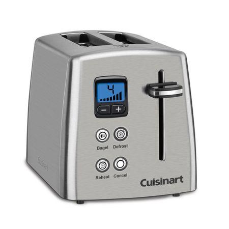 Torradeira para 2 fatias em aço escovado Cuisinart -220V cpt-415br