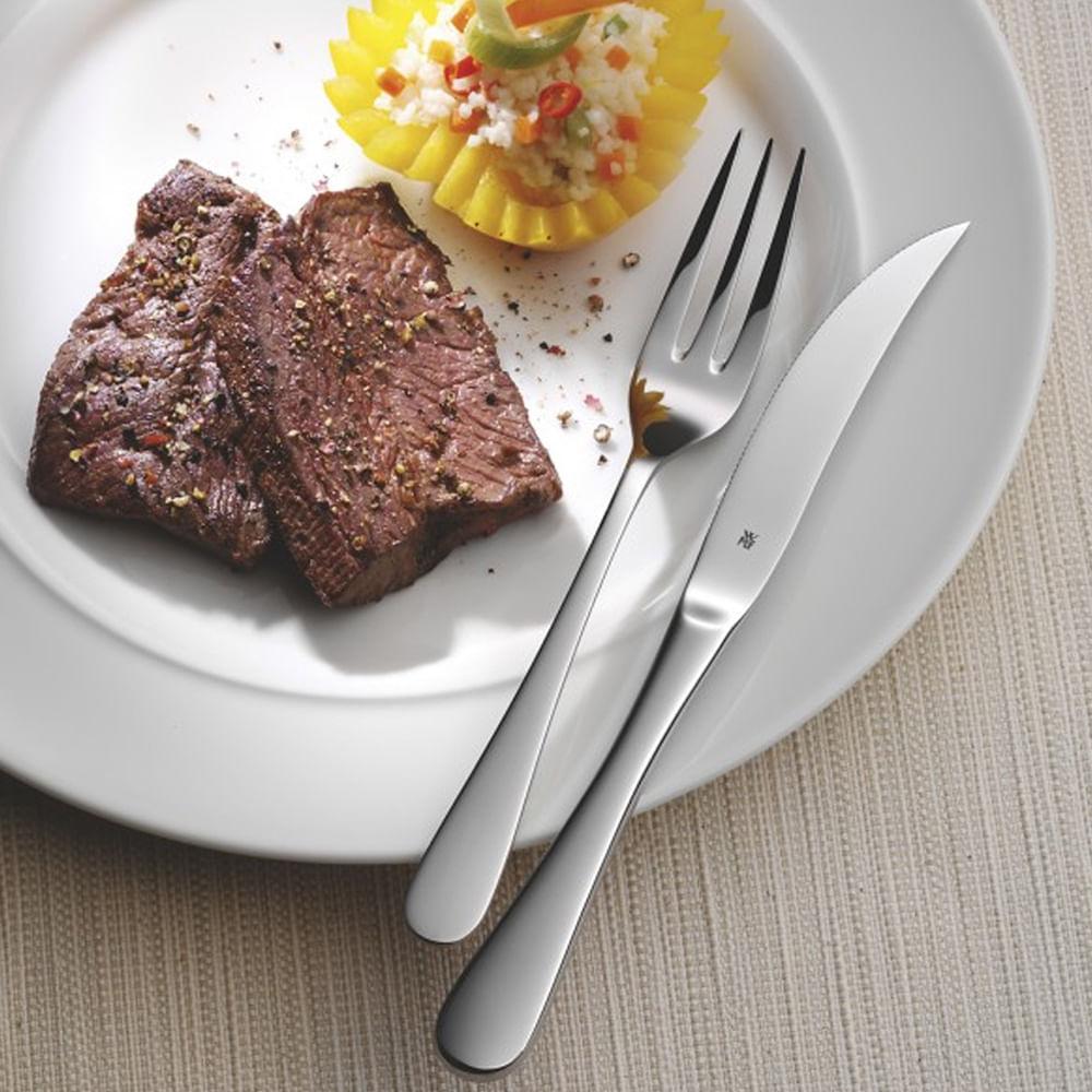 Conjunto de 12 Talheres para Carne em Aço Inox Servier Bistro WMF