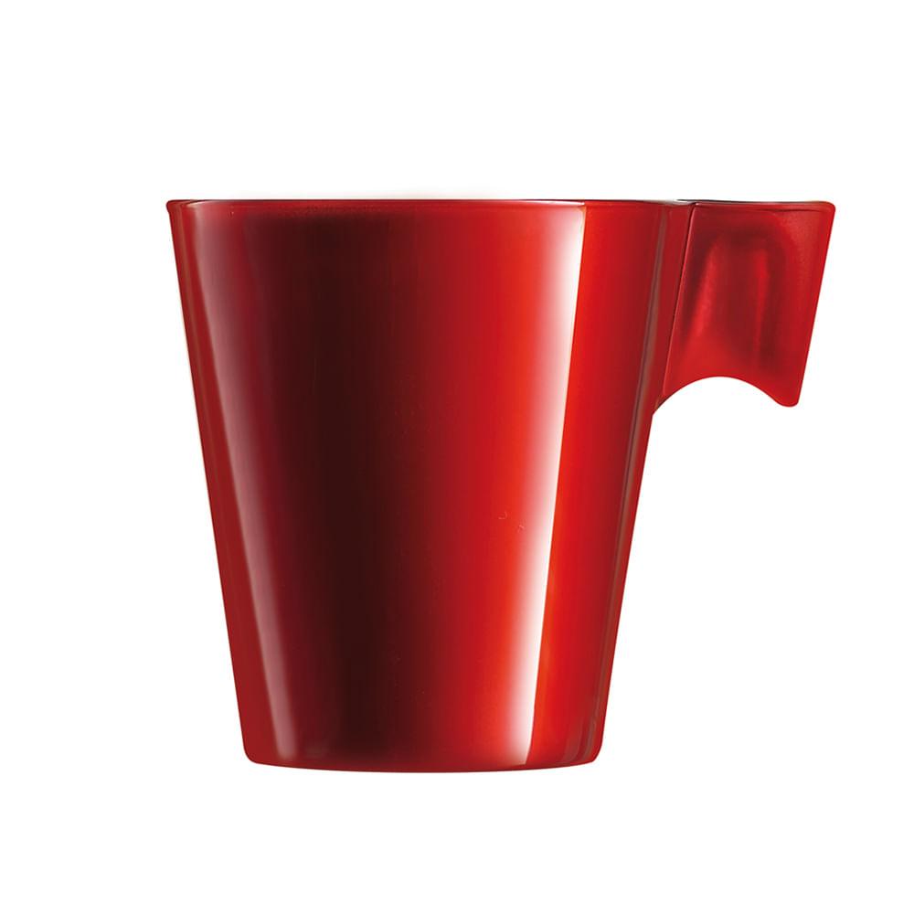 Xícara para Café em Vidro 80ml Flashy Luminarc Vermelha