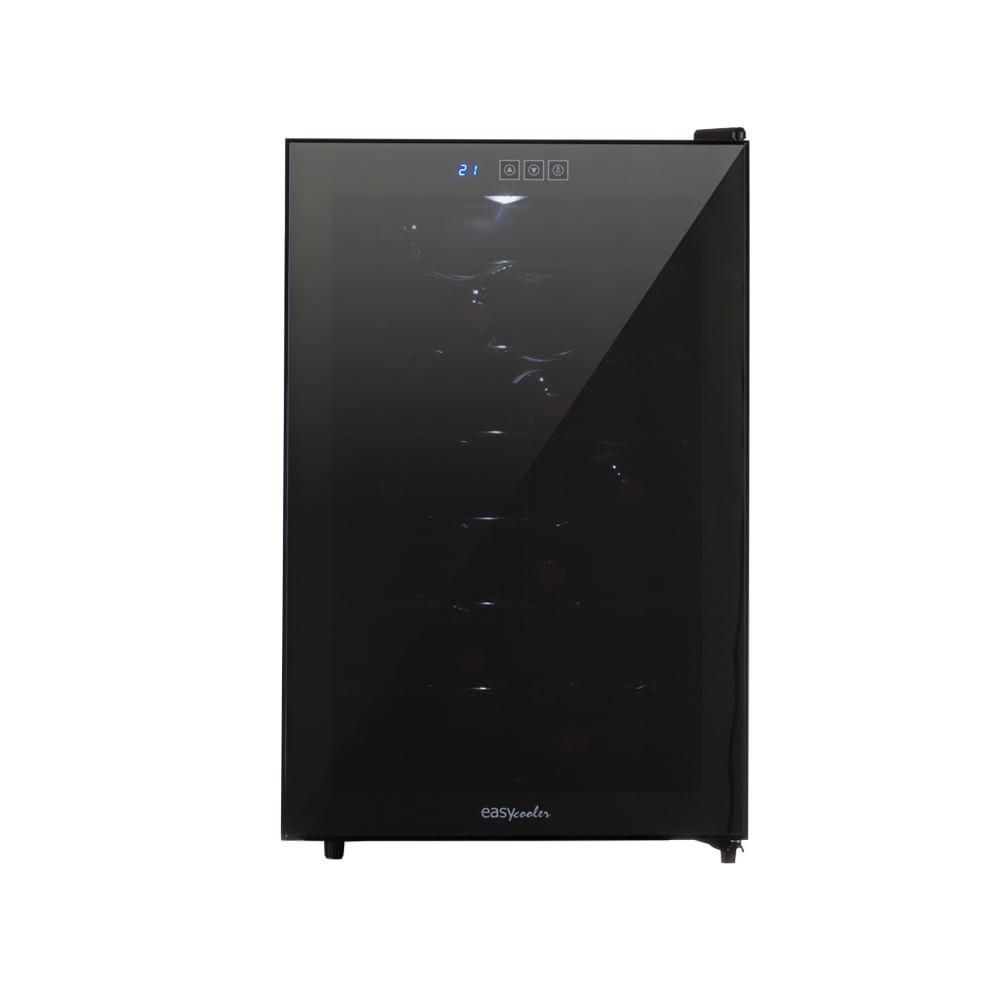 Adega de Vinho 28 Garrafas com 750ml  Termoelétrica JC-65g 220V Easy Cooler Preta