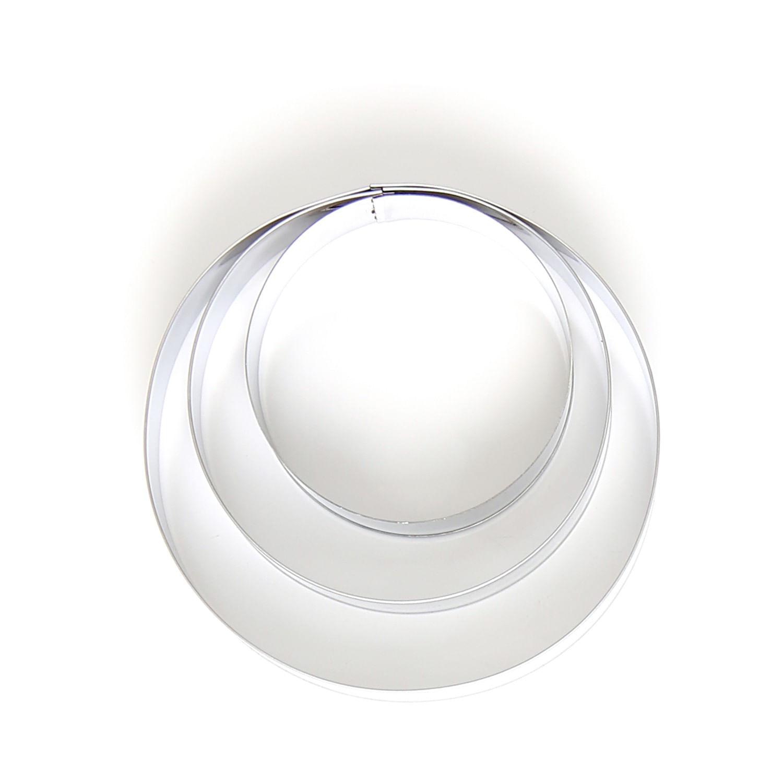 Conjunto de 3 Aros para Confeitar em Aço Inox i Genietti