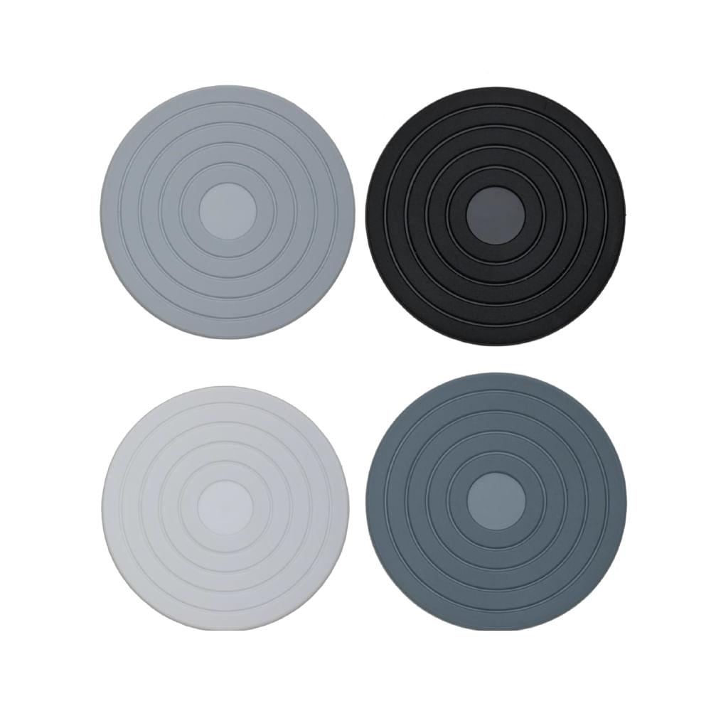 Conjunto de 4 Descansos para Copo em Silicone 10cm Kenya Colorido