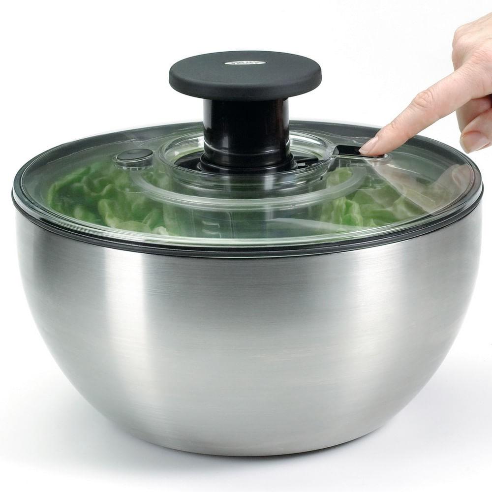 Lava e Seca Saladas 5 Litros em Aço Inox OXO