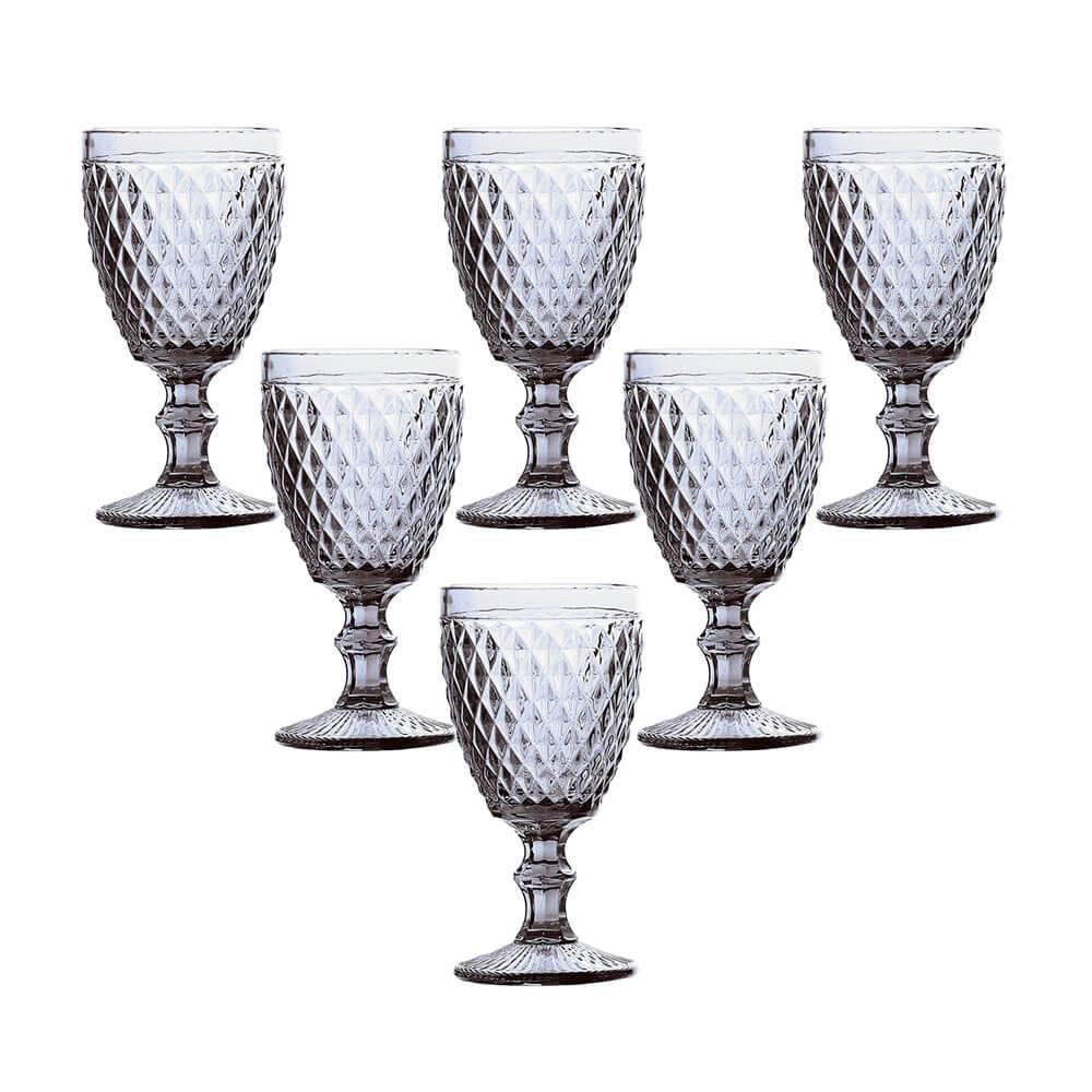 CoConjunto de 6 Taças Água em Vidro Bico de Abacaxi 325ml Lyornjunto de 6 Taças Água em Vidro Bico de Abacaxi 325ml Lyor