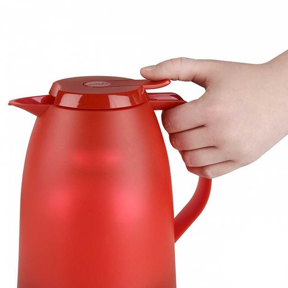 Garrafa Térmica de 1 Litro Quick Tip Mambo Emsa Vermelha