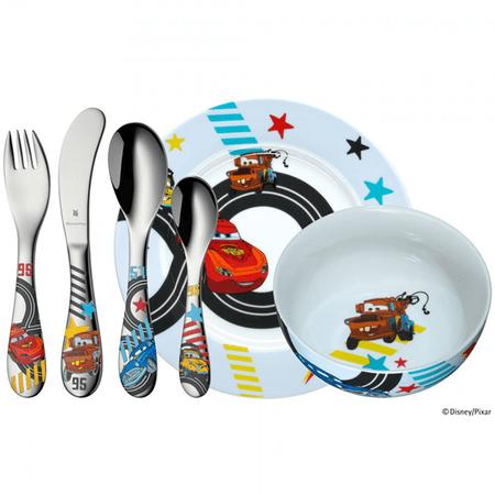 Conjunto infantil em porcelana com 6 peças Carros WMF