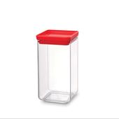 Pote-quadrado-em-polipropileno-vermelho-16-litros-Brabantia