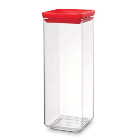Pote-quadrado-em-polipropileno-vermelho-25-litros-Brabantia