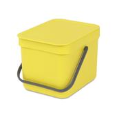 Lixeira-penduravel-em-polipropileno-amarelo-6-litros-sort---go-Brabantia