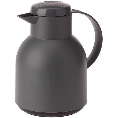 Garrafa-Termica-de-1-litro-Quick-Press-Cinza-Opaque-Samba-Emsa