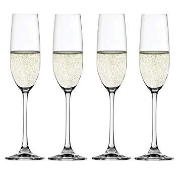 Conjunto de 4 Taças para Champagne em Vidro Cristalino Salute Spiegelau