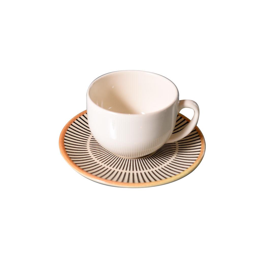Xícara de Chá Coup Manhattan em Cerâmica 198ml Porto Brasil