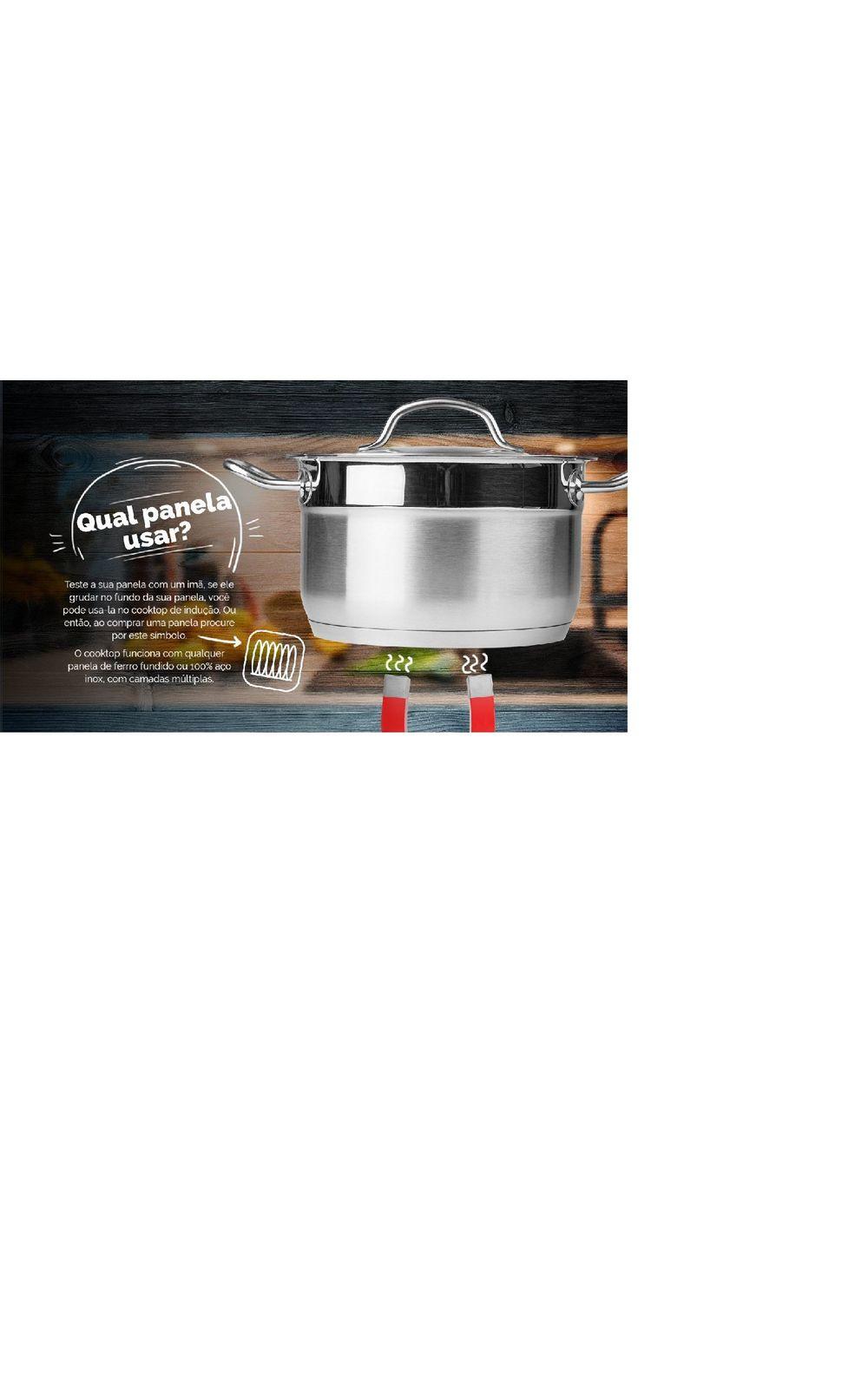 Foto 8 - Cooktop por Indução Portátil de 1 Boca 127V Cadence Preto
