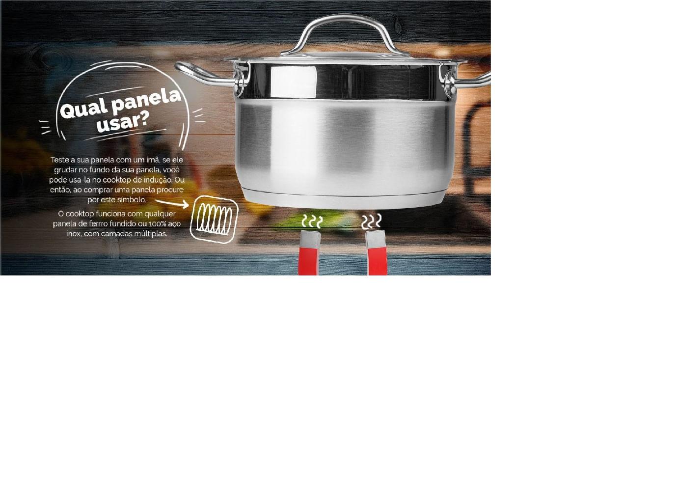 Cooktop por Indução Portátil de 1 Boca 127V Cadence Preto