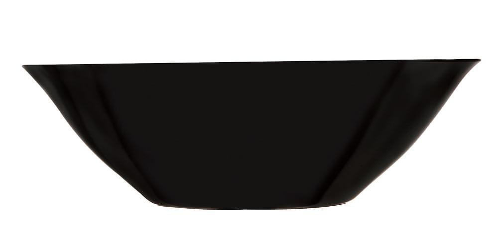 Bowl Carine em Vidro Temperado 27cm 2,4 Litros Preto