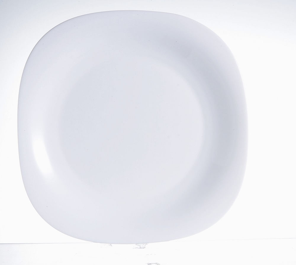 Prato de Sobremesa Carine em Vidro Temperado 19cm Luminarc Branco