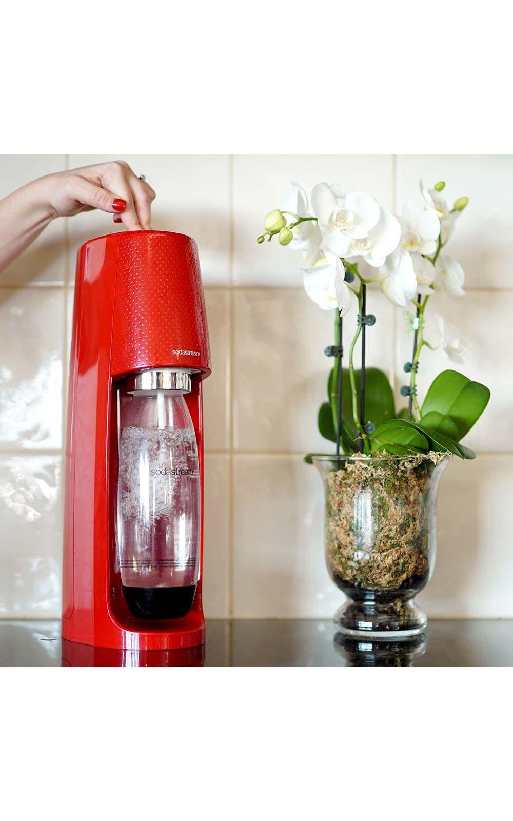Foto 4 - Máquina para Gaseificar Água Fizzi Sodastream Vermelho