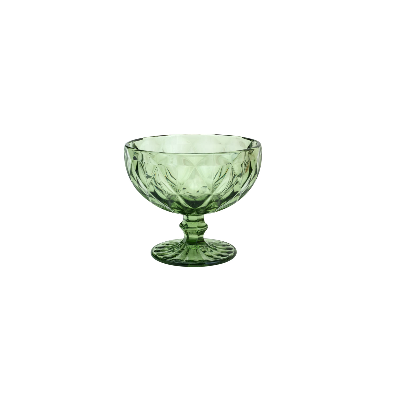 Conjunto com 6 Taças para Sobremesa Diamond em Vidro 310ml Lyor Verde