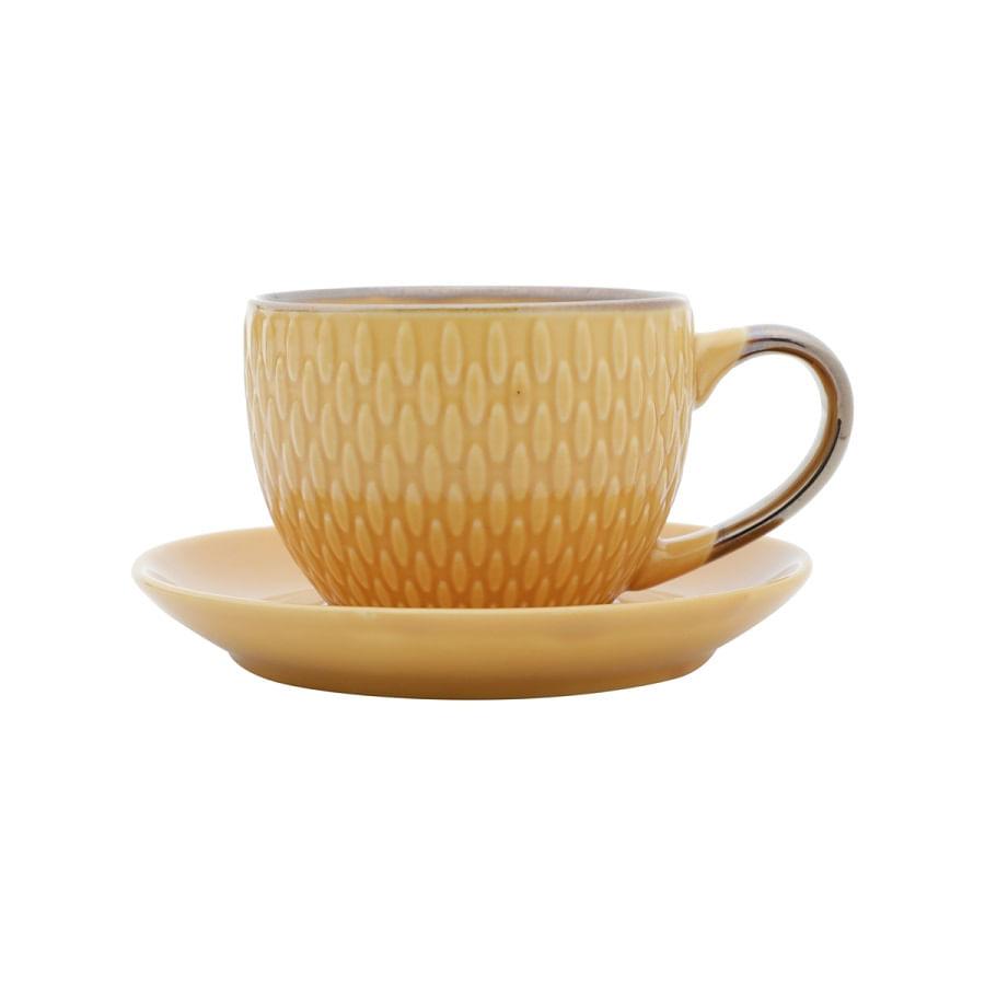 Xícara de Café Snake em Porcelana 90ml Rojemac Amarelo