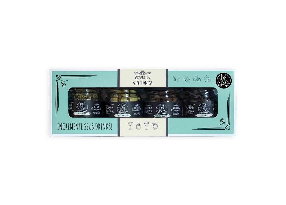Kit Expert para Gin Tônica com 4 Aromas Spicy