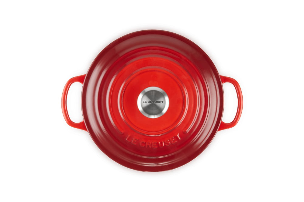 Caçarola Redonda Signature 22cm Le Creuset Vermelha