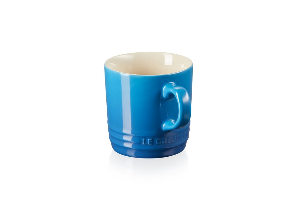 Caneca Capuccino em Cerâmica 200ml Le Creuset Azul