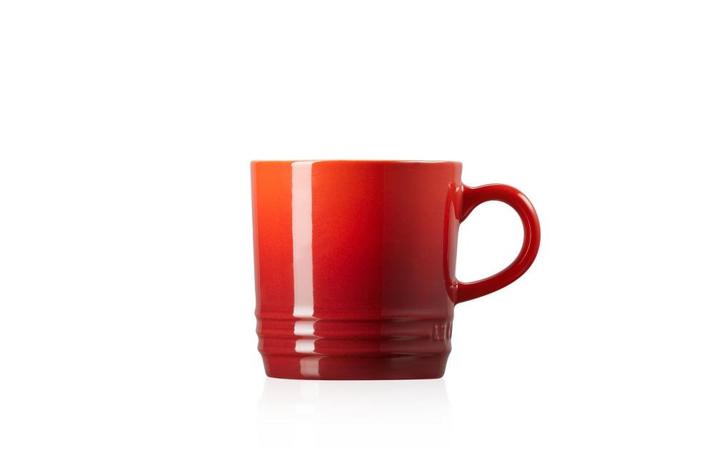 Caneca Capuccino em Cerâmica 200ml Le Creuset Vermelha