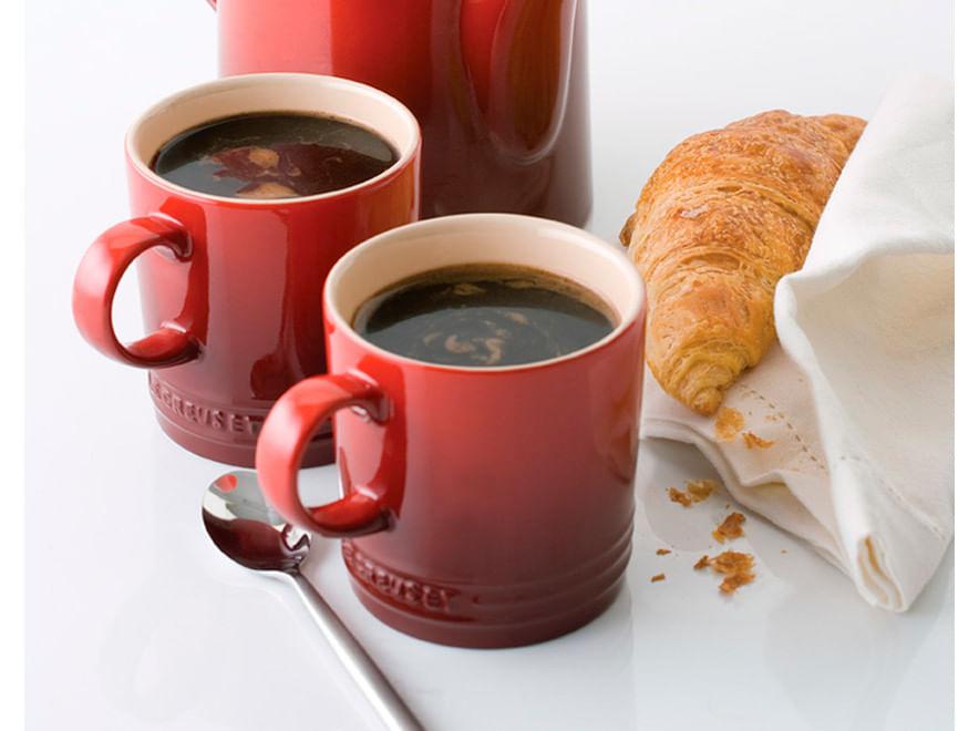 Caneca para Café em Cerâmica 100ml Le Creuset Vermelha