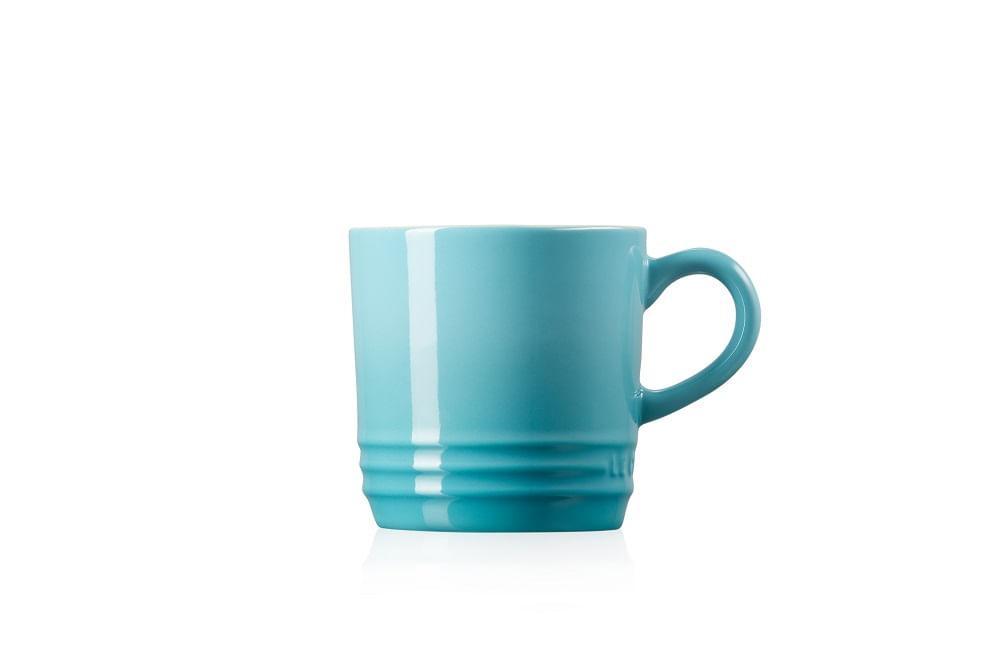 Caneca Capuccino em Cerâmica 200ml Le Creuset Azul Caribe