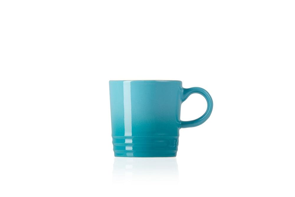 Caneca para Café em Cerâmica 100ml Le Creuset Azul Caribe