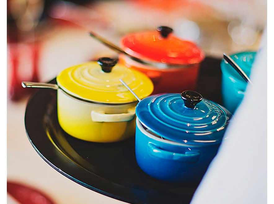 Mini Cocotte em Cerâmica 10cm Le Creuset Azul