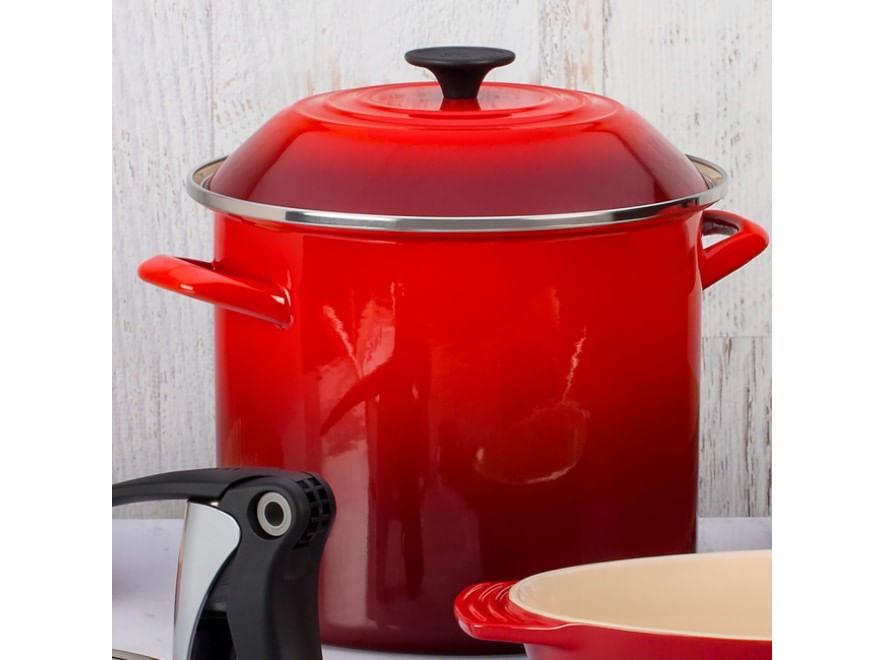Stock Pot em Aço Esmaltado 22cm Le Creuset Vermelho