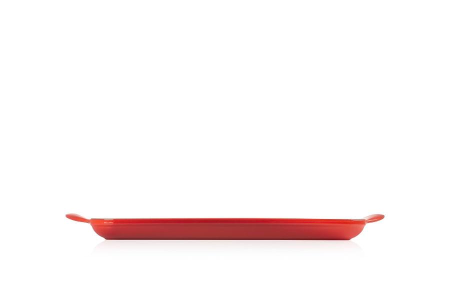 Grelha Retangular Tradicional 32cm Le Creuset Vermelha