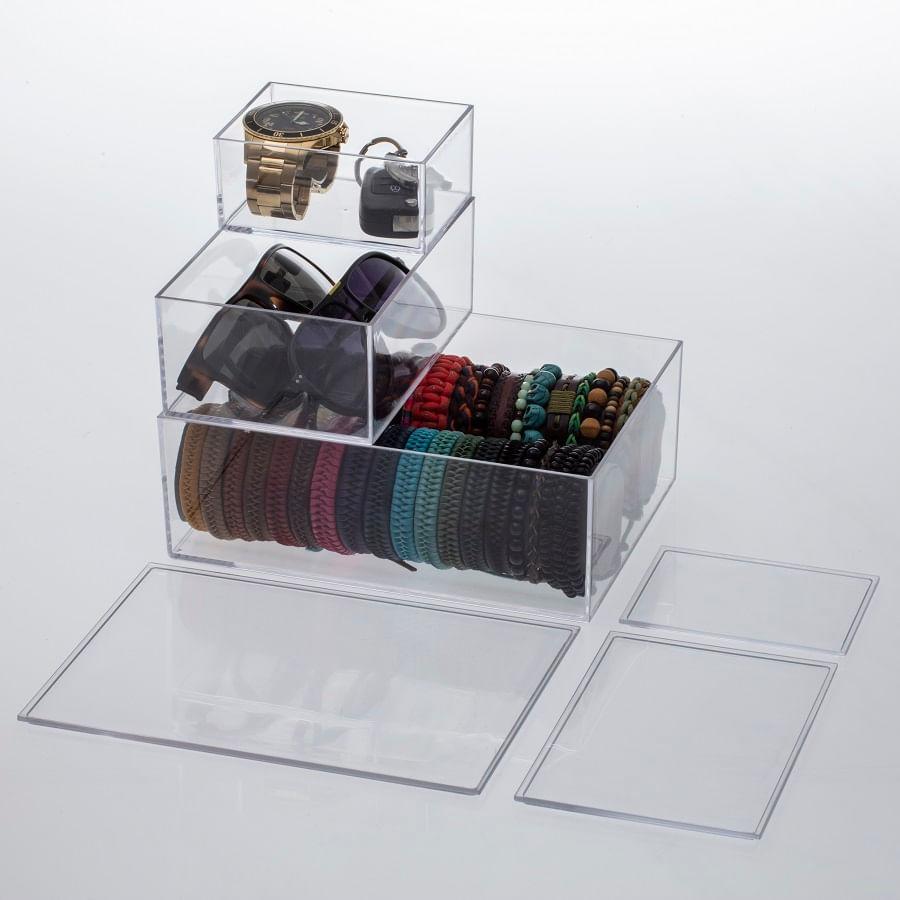 Caixa Organizadora Elegance em Polipropileno 16,5cm Paramount