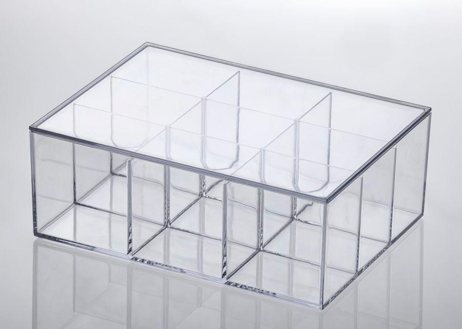 Caixa Organizadora com Disórias Elegance em Polipropileno 22,5cm Paramount