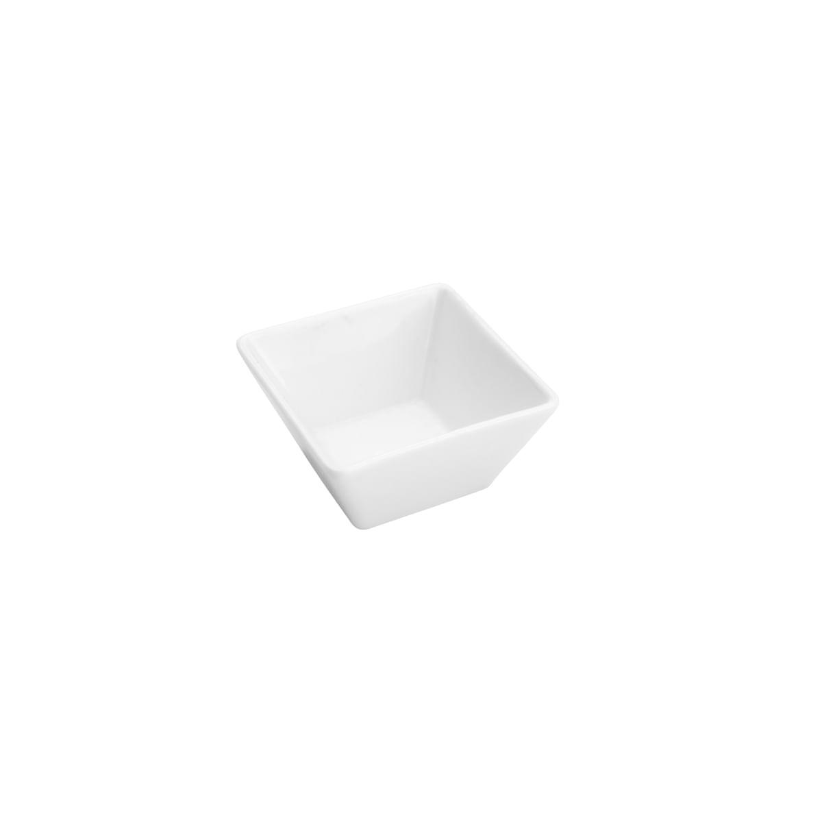 Conjunto de 4 Petisqueiras Clean em Porcelana 7cm Rojemac Branca