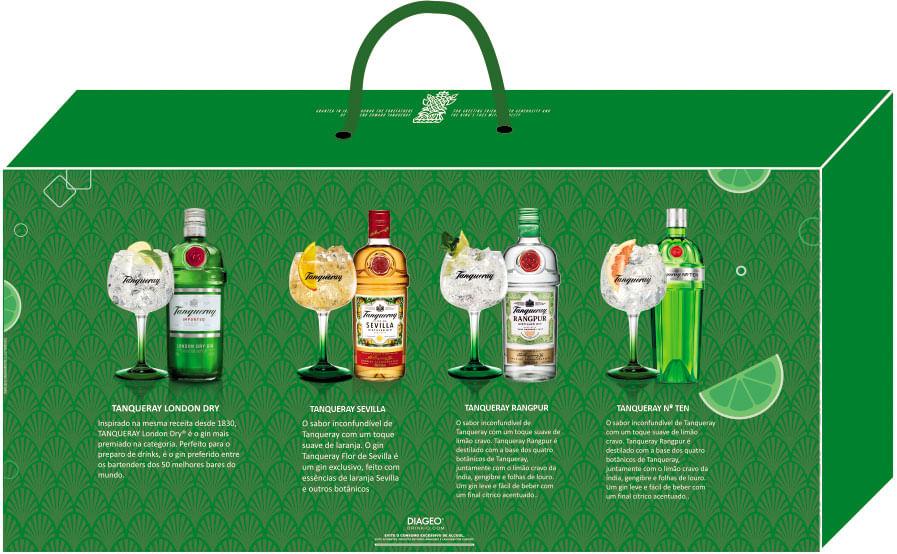 Maleta com 4 Peças para Gin Tanqueray 600ml Global