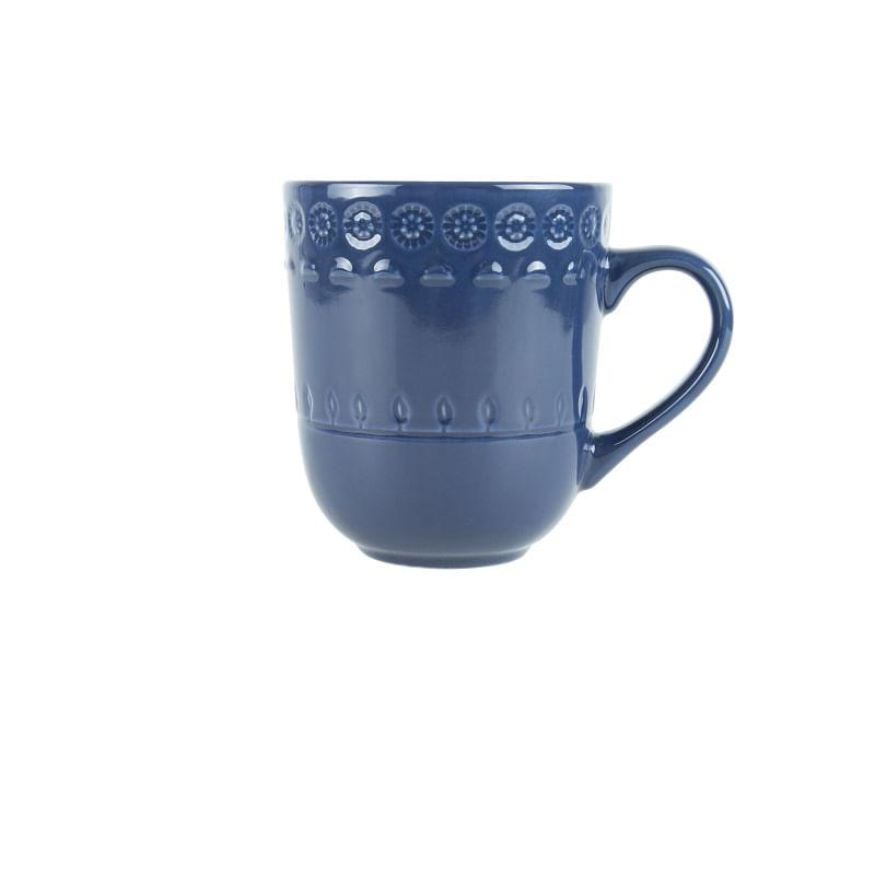 Caneca em Porcelana Grace 370ml Rojemac Azul