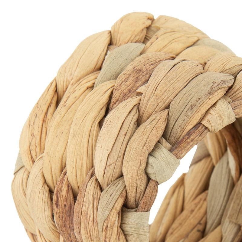 Conjunto com 4 Anéis para Guardanapo em Fibra Natural 5cm  Rojemac