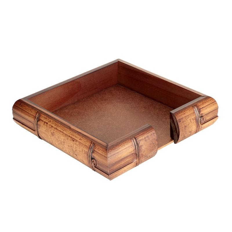 Porta Guardanapo de Madeira Quadrado 20cm FullFit