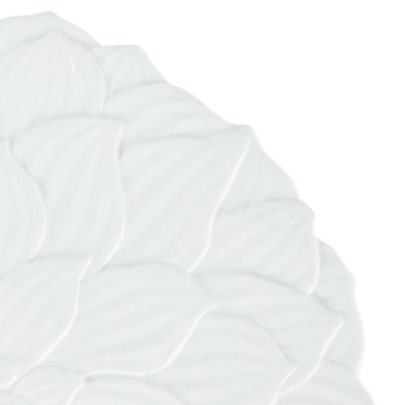 Sousplat em Porcelana Wolff Daisy 33cm Rojemac Branco