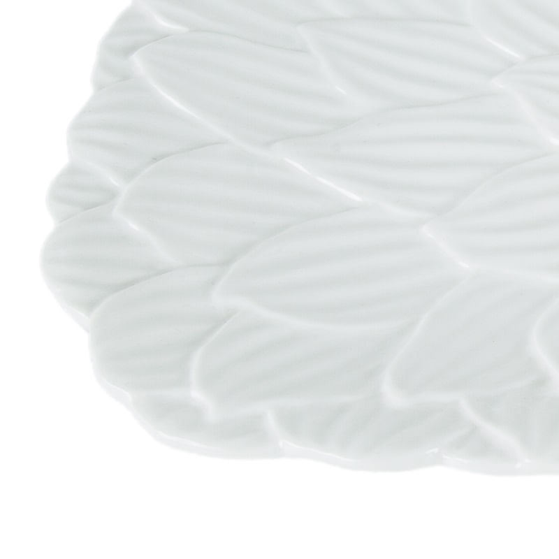 Travessa Retangular em Porcelana Wolff Daisy Rojemac Branco