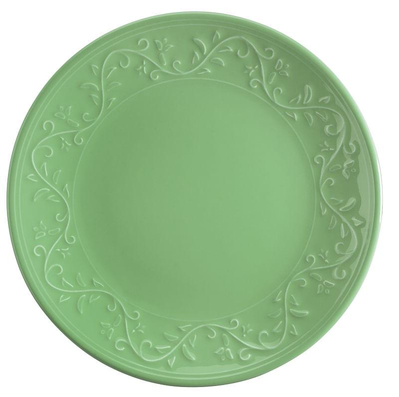 Prato Raso em Cerâmica Wolff Alanya 25,5cm Rojemac Verde