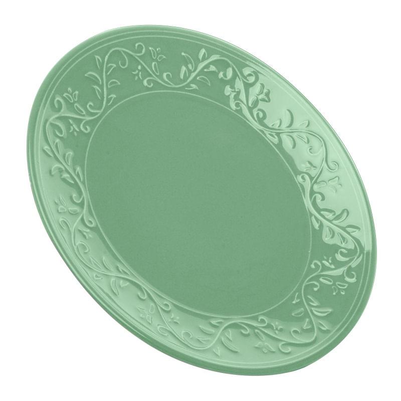 Prato para Sobremesa em Cerâmica Wolff Alanya 20cm Rojemac Verde