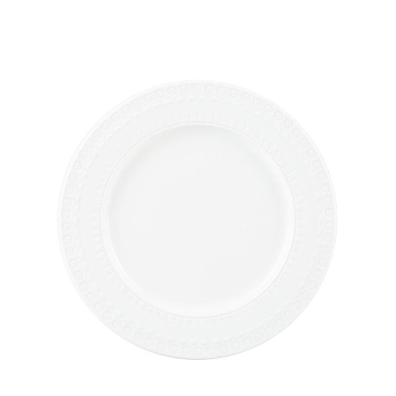 Prato Raso em Porcelana Wolff Grace 27cm Rojemac Branco